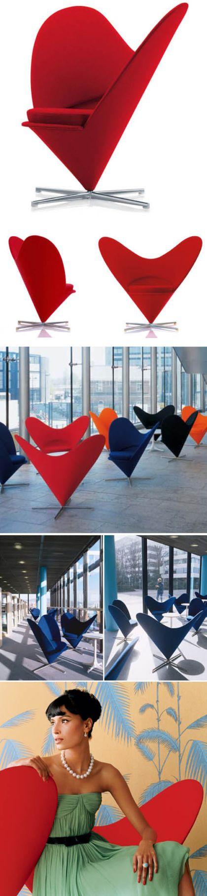 Panton heart chair - Verner Panton