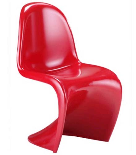 the Panton Chair S-chair designed by Verner Paton in 1968