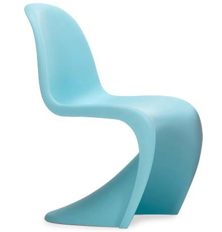 the Panton Chair S-chair designed by Verner Paton