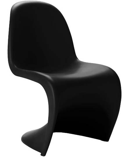 the Panton Chair S-chair designed by Verner Paton in 1960