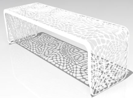 Coral bench by Arktura