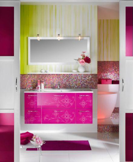 """Mẫu phòng tắm """"Unique 123 – Façade Médina framboise"""""""