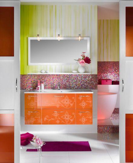 """Mẫu phòng tắm đẹp """"Unique 123 – Façade Médina framboise"""""""