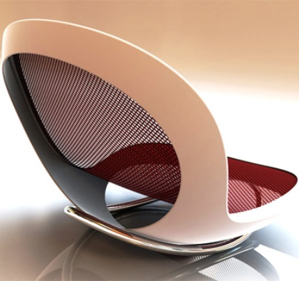 """Purity"" Rocking chair by Scott Wilson"