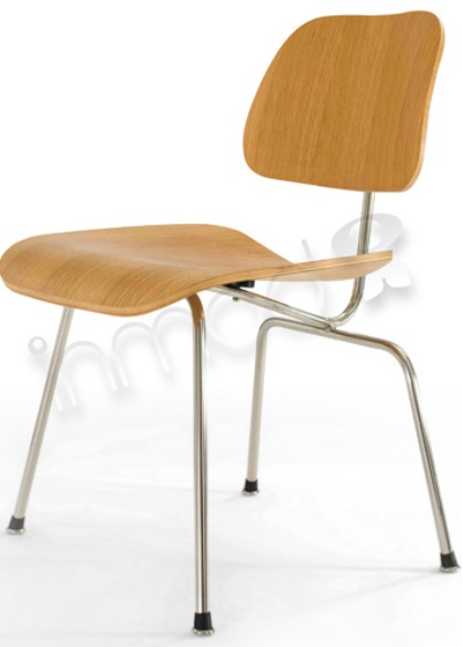 Eames Style Plywood Dining Chair with Metal Legs