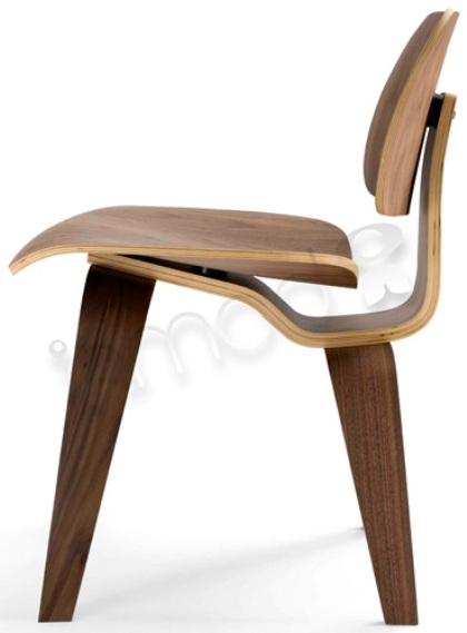 Eames Style Plywood Dining Chair with Wood Legs