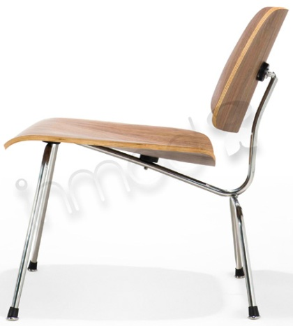 Eames Style Plywood Lounge Chair with Metal Legs