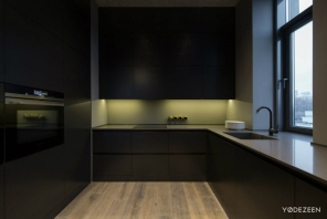 Ambient-light-gives-the-kitchen-a-slightly-khaki-color-accent